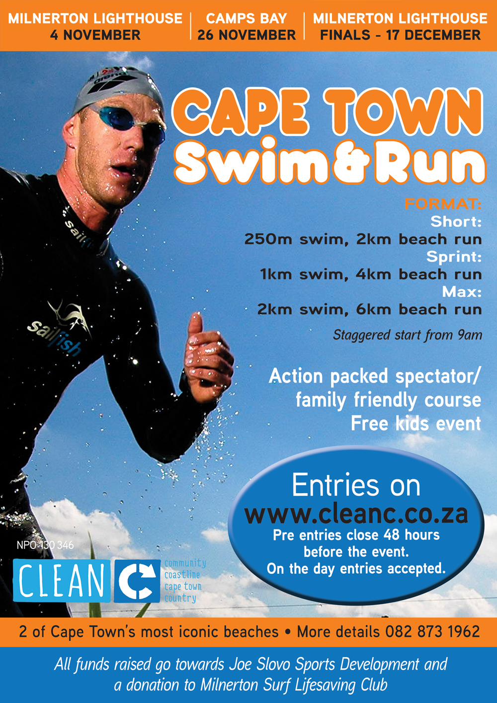 Cape Town Swim Run | Milnerton Lighthouse | Finals 17 December 2017