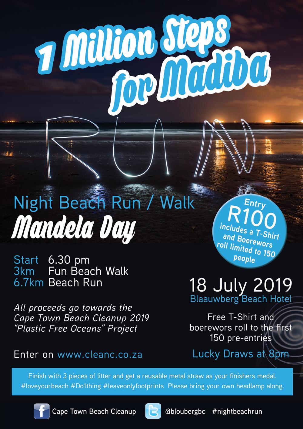 1 Million Steps for Madiba Beach Walk 18 July